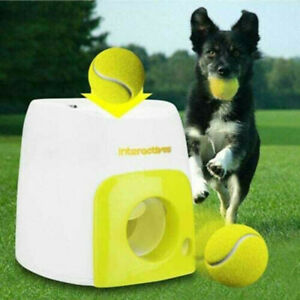 Automatic Dog Ball Launcher Toy Fetch Training Thrower Machine Pet Tennis Toys