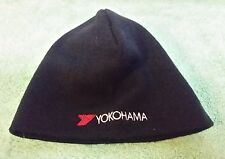Yokohama  Tires  Knit Ski  Winter  Hat  Black  Snowmobile  Skull  Skiing  Japan