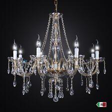 LAMPADARIO IN CRISTALLO CLASSICO 8 LUCI MARIA TERESA mandorle DESIGN SWAROVSKY