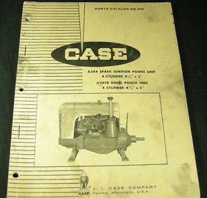 CASE A284 Spark Ignition Power Unit A301D Diesel Parts Manual Book Catalog
