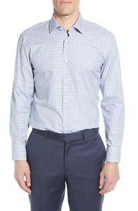 Hugo Boss Marley Sharp Fit Check Dress Shirt $138