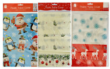 Large Christmas Tablecloth Table Decoration Festive Xmas Wipe Clean Cover Santa