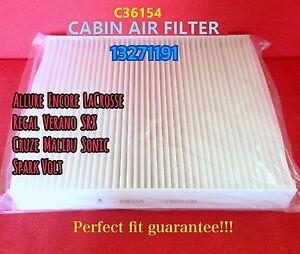 C36154 Cabin Air Filter For SRX Malibu LaCrosse Cruze Volt US Seller 13271191