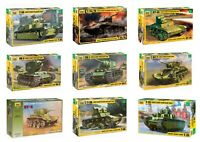 Soviet Armored forces Tanks WW II Zvezda 1:35 Scale Models Not painted/assembled