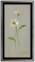 Gerald Stinski Oil Painting On Board Signed Daisy Floral Original Framed Artwork