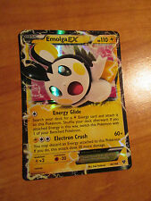 NM Pokemon EMOLGA EX Card XY X and Y Base Set 46/146 Ultra Rare Holo 110 HP TCG