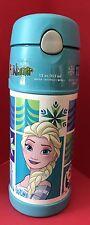 Disney Frozen Elsa Olaf Anna Blue Thermos Funtainer Straw Bottle 12 oz F4007FZW4