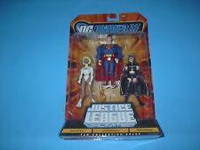 DC COMICS MATTEL JUSTICE LEAGUE 3 PACK GALATEA,HUNTRESS,SUPERMAN 2008