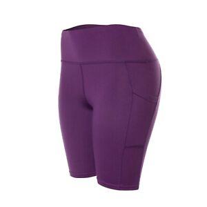 Biker Shorts for Women Yoga Gym Cycling Hot Pants Sports Leggings with Pockets