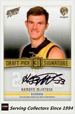 2013 Select AFL Prime Draft Pick Signature Card DPS22 Kamdyn McIntosh (Richmond)