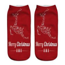 3D Print Cute Santa Claus Socks Low Cut Harajuku Christmas Boat Sock Unisex