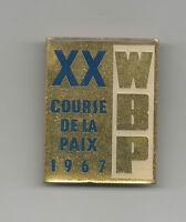 Orig.pin   XX.Course de la Paix / Peace Race 1967  -  Official Logo  !!  RARITY