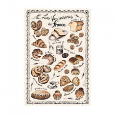 French Kitchen Dish/Tea Towel French Baked Goods 100% Cotton Made In France