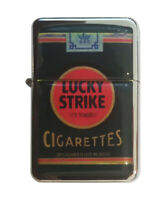 Lighter Lucky Strike soft Refillable Windproof Oil Petrol Lighter FlipTop