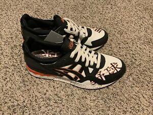 Asics Tiger Gel Lyte V Cream Black Orange Shoe 1193A157-100 Men's Size: 9.5