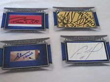 LOT OF 10 AUTOGRAPHED CUSTOM CUT SIGNATURE CARDS-ALL HOF-BOURQUE-NEELY-HALL