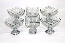 6 x Golnaz Isfahan Ice Cream Sundae Dish Milkshake Sundae Dishes Bowl Glasses