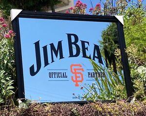 Jim Beam San Francisco Giants MLB Baseball Whiskey Beer Bar Mirror Man Cave
