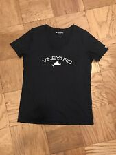 Women Short sleeve Casual 100% Cotton Champion T-shirt VINEYARD Tops Navy