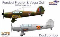 Dora Wings 1:72 DW7202D - Percival Proctor& Vega Gull (2 in 1)