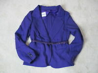 NEW Love Moschino Blazer Jacket Womens Medium Size 8 Purple Bel Ladies $775