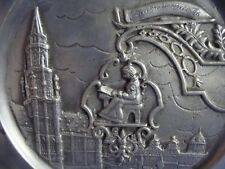Vintage French Souvenir Plate by ERVE OF FRANCE ~ Brussels Belgium Medieval Scen