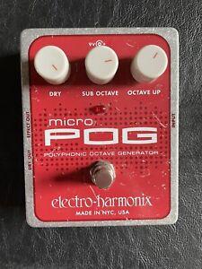 Electro Harmonix EHX Micro POG Octave Synth Guitar Bass FX Pedal