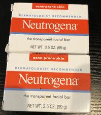 Neutrogena Transparent Facial Bar- Acne-Prone Skin Formula Soap 3.5oz 2pk