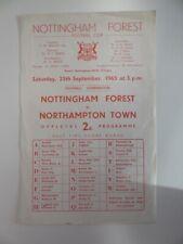 More details for nottingham forest v northampton town | 1965/1966 | reserves | 25 sep 1965
