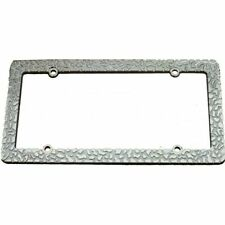 Chrome Nugget License Plate Frame with 4 Hole Mount