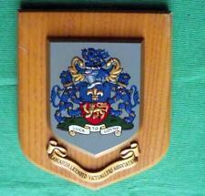 Vintage University LANCASTER LICENSED VICTUALERS School Crest Shield Plaque