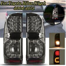 Rear Light Tail Light For Toyota Hilux Vigo 2004-2015 Pair LED Smoke Black