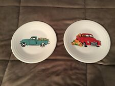 Fiestaware NEW Truck Plates (2), Autumn Fall & Spring, Belk, Lunch, Fiesta