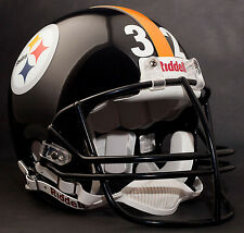 FRANCO HARRIS PITTSBURGH STEELERS Schutt NOPO Football Helmet FACEMASK - BLACK