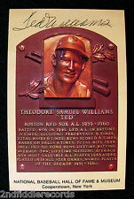TED WILLIAMS-BOSTON RED SOX-Autographed Cooperstown Hall Of Fame Card