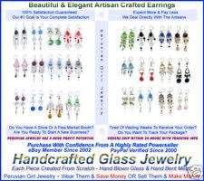 10 Pairs Earrings Glass Bead Peru Jewelry Wholesale Lot