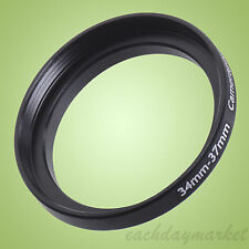 34mm a 37mm 34-37 34-37mm 34mm-37mm stepping STEP UP Filtro Anello Adattatore