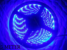 5 METER HIGH QUALITY BLUE 60 LED BLACK PCB WATERPROOF 5050 SMD LED STRIP