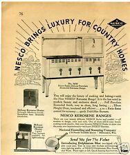 1936 Nesco 3650 DeLuxe Porcelain Kerosene Range Oven Vintage Print Ad