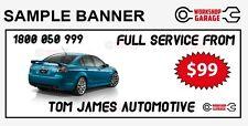 4200MM X 900MM - CUSTOM  WORKSHOP - CAR CLUB - MAN CAVE - SHOW  BANNERS