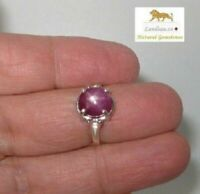 4.45 ct STAR RUBY Sterling Silver Ring