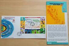 1998 Malaysia Commonwealth Games Kuala Lumpur Venues MS FDC (Melaka Cachet)