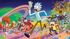 """049 Rick and Morty - American Adult Animated TV Series 25""""x14"""" Poster"""
