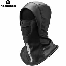 RockBros Cycling Leather Thickened Windproof Thermal Cap With Face Mask Black