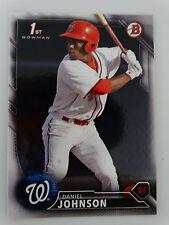 2016 Bowman Draft #BD-94 Daniel Johnson Washington Nationals RC Baseball Card