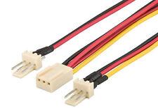 3 Pin Fan Splitter Cable Lead 1 Female to 2 x Male 22cm Motherboard Power