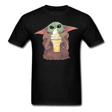 Baby Yoda Eat Ice Cream Mandalorian T-Shirt Funny Cute Tee