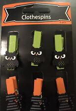 Halloween Craft Clothes Pins, 6 Pieces ( Owl & Cat ) 👻🎃🦉