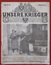 UNSERE KRIEGER KAISER FRANZ JOSEF I. BEGRÄBNIS TOD  KAISER KARL Heft 36/37 1916