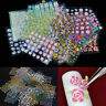 50 Sheets 3D Flower Water Transfer Manicure Nail Art Stickers Decals DIY Tips